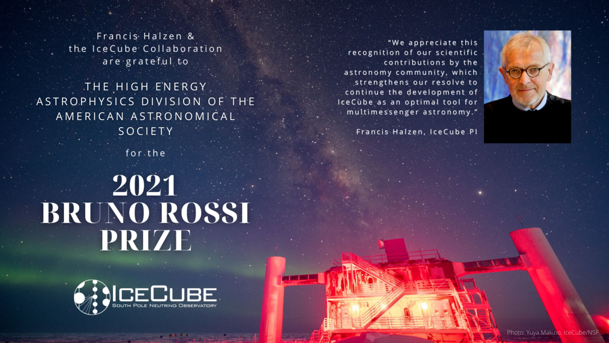 2021 Rossi Prize awarded to the IceCube Collaboration